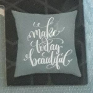 """""""Make Today Beautiful"""" throw pillow cover"""